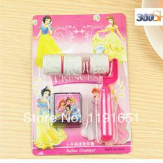 Free shipping 10pcs/lot  100% Good quality Decoration DIY stamp set with inkpad Creative  princess  plastic stamp   $22.98