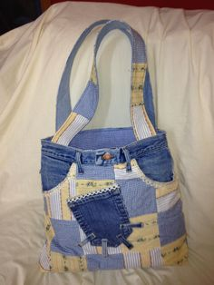 Up cycled large jean purse - inspiration