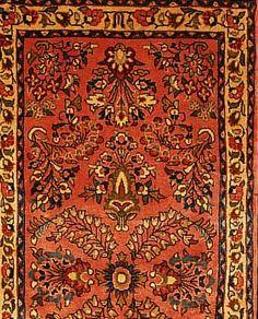 Sarogh,Persien ca 130 x 65 cm. Flor Wolle.