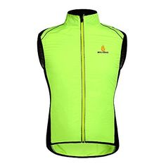 Women's Cycling Vests - Sports Vest Mens Cycling Riding Jackets Windproof Breathable Jersey for Outdoor Sportswear Green 3XL OW27 * Details can be found by clicking on the image.