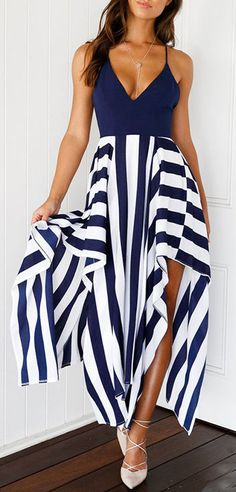 Blue and white striped dress - striped dress summer outfits summer dress outfit blue summer dress outfit blue summer dress outfit outfits baby blue dress - blue dress outfit - Summer Blue Dresses 2019 Blue Dress Outfits, Spring Outfits, Blue Dresses, Cool Outfits, Dress Up, Fashion Outfits, Women's Fashion, Outfit Summer, Dress Summer