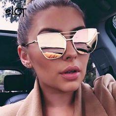 Top Quality Fashion Sunglasses Women Men Brand Designer Vintage Sun Glasses For Women Female Sunglass Oculos De Sol Feminino New Mirrored Aviator Sunglasses, Mirrored Aviators, Gold Sunglasses, Retro Sunglasses, Cat Eye Sunglasses, Sunglasses Women, Hexagon Sunglasses, Sunglasses Price, Aviator Glasses