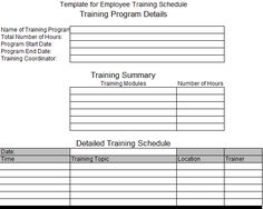 Employee Training Schedule Template Excel Employee Training - Employee training plan template excel
