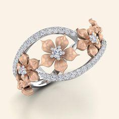 Rosa Goldmarie Ring