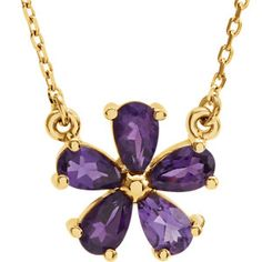 "14k yellow gold #amethyst necklace, 16"". Find it at a jeweler near you: www.stuller.com/locateajeweler #Februarybirthstone #purplegem"