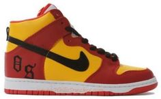 http://www.asneakers4u.com NDH 218 Nike Dunk High Customs Orchard Street Red Yellow K03128