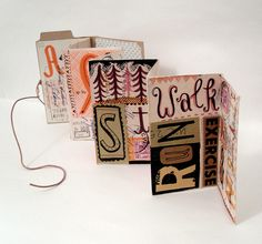 Concertina book - use both sides, add text, images, colour etc. linzie hunter