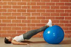 11. Stability Ball Hamstring Curl