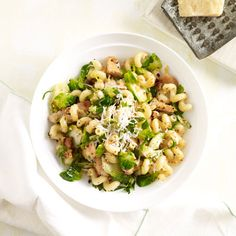 Get the recipe for Pasta with Chicken and Brussels Sprouts