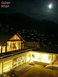 Muzaffarabad City Night View From Hotel Azad Kashmir Valley Stan