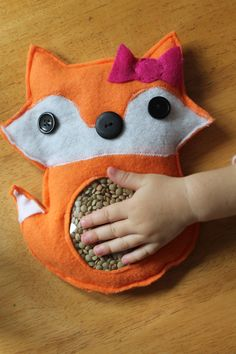 Fox Game / I Spy Bag / Toddler Childrens Toy Earth Friendly Quiet time Travel Game Easter Basket Gift