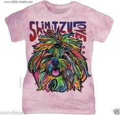 I Love Shih Tzu's T-Shirt/Pink Tie Dye Tee,Shih Tzu Art