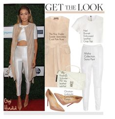 """Get the Look: Gigi Hadid"" by helenevlacho ❤ liked on Polyvore featuring Misha Collection, Neil Barrett, Christian Louboutin, GetTheLook, StreetStyle, CelebrityStyle and gigihadid"