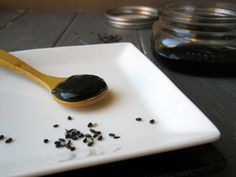 """Japanese black sesame paste, or """"nuri goma"""" is a thick, sweet black paste which imparts roasted nutty flavors with deep earthy undertones."""