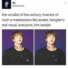 "8,967 Likes, 37 Comments - Ivy Cavasier (@_crazyforbts_) on Instagram: ""Jin is such a bias wrecker like Jin please stop being so damn beautiful #jin #jungkook #jimin…"""