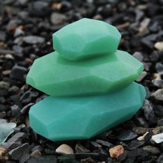 Soap Stones by PELLE: Sea Glass/Pine Mint SPECIAL EDITION (Set of 3) by PELLE