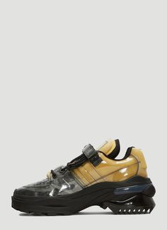 Maison Margiela black Retro Fit Transparent Sneakers in polyester, made in Italy. Discover & shop online on LN-CC. Your Shoes, Lanvin, Matte Black, Hiking Boots, Cool Style, Christian Louboutin, Kicks, Italy, Man Shop