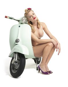 Vespa Girl dreaming from Scooter Center? http://www.scooter-center.com