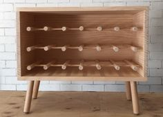 DIY this stunning timber wine rack with Porta dowel and timber panels. Step-by-step instruction & and DIY video. For stockists of Porta timber or mouldings call 1300 650 787 or visit www.porta.com.au
