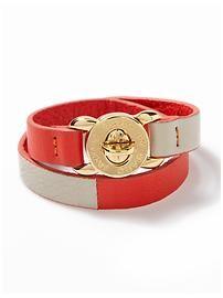 Marc Jacobs wrap leather bracelet