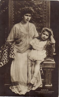 Queen Marie with Mignon Maud Of Wales, Romanian Royal Family, Alexandra Feodorovna, Before Marriage, King George, Queen Victoria, King Queen, Old Photos, Royalty