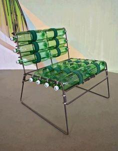 A plastic bottle deckchair