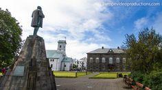 Althingi, Kathedrale in Reykjavik und Austurvöllur Platz in Reykjavik, Island