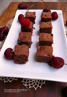 Double Chocolate Cherry Brownies