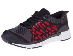 Heren sneakers / sportschoenen zwart rood €29,95 40/45