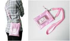 Small Pink Clear Translucent Iphone Crossbody Bag   Please visit us at www.etsy.com/shop/Trixiesky   to see more of our wonderful products.