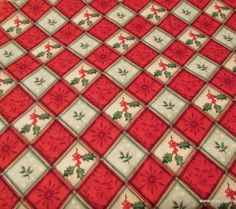 Flannel Fabric  Holly Plaid   1 yard  100% Cotton by SnappyBaby