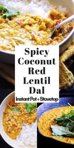 Healthy Indian Recipes, Vegan Recipes, Cooking Recipes, Top Recipes, Coconut Recipes Indian, Red Lentil Recipes Easy, Vegan Indian Food, Indian Snacks, Gastronomia