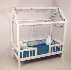 TWIN size house shaped bed on LEGS with RAILS , House bed, Montessori bed, home house frame bed, convertible house bed by CapeCodBeds on Etsy https://www.etsy.com/listing/536284342/twin-size-house-shaped-bed-on-legs-with