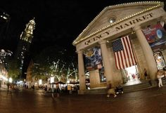 Quincy market and Faneuil Hall Boston