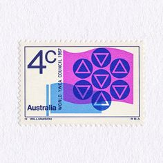 Centenary of the (YWCA) Young Women's Christian Association (4c). Australia, 1967. Design: Harry Williamson. #mnh #graphilately