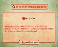 Dictionar email marketing: Ce inseamna Blacklist