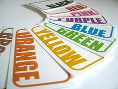 free printable color labels