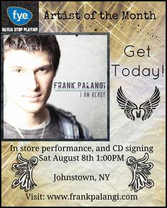 Frank Palangi at #FYE Johnstown, NY performance poster Aug. 2015 - #Poser #localmusic #livemusic