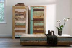En gave kasten gemaakt van sloophout: Silo 6