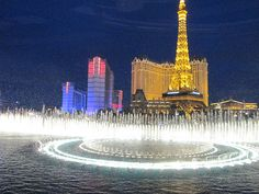 Bellagio fountains Eiffel Tower, Las Vegas