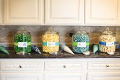Popcorn Bar!  Colored Popcorn to match your theme