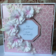 60th Birthday, Happy Birthday, Stamps By Chloe, Creative Cards, Homemade Cards, I Card, Card Ideas, Female, Crafts