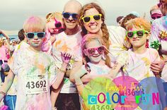 Family Fun Color Run [color me rad 5k]