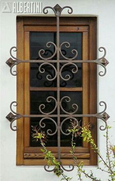 Windows, doors, and sliders in wood and bronze clad - for your home.Albertini: Windows, doors, and sliders in wood and bronze clad - for your home. Iron Windows, Iron Doors, Windows And Doors, Window Security Bars, Security Gates, Burglar Bars, Window Bars, Wrought Iron Decor, Grill Design