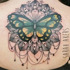 Butterfly and mandala for Kathleen. Picked from my designs, May 2015