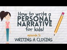 Are you ready to write a personal narrative? First you have to brainstorm some ideas! This video shows you how to think of topics for your narrative writing. Teaching Narrative Writing, Personal Narrative Writing, Personal Narratives, Narrative Essay, Pre Writing, Writing Workshop, Writing Ideas, Writing Process, Creative Writing