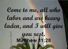 Jesus Matthew 11:28