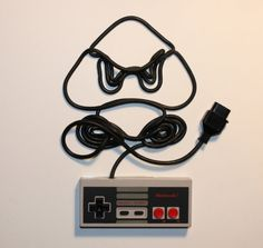 Video Game Characters Made From NES Controller Cords #awesome