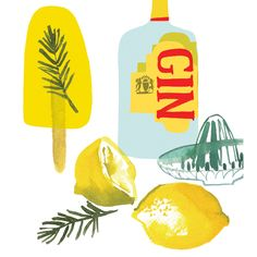 gin and lemons- Lara Harwood Graphic Design Illustration, Illustration Art, Gins Of The World, Gin Lemon, Gin And Tonic, Funny Wallpapers, Food Illustrations, Mellow Yellow, Food Art