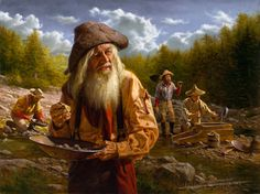 """""""er mundo de manué"""": ALFREDO RODRIGUEZ, obras, cuadros, pinturas. Classical Realism, American Indian Art, American Indians, Cool Paintings, Beautiful Paintings, Westerns, Oeuvre D'art, Oeuvres, Gold Miners"""